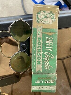 $100 • Buy Vintage Dockson Safety Goggles In Box With Mesh Guards (Steampunk Costume)