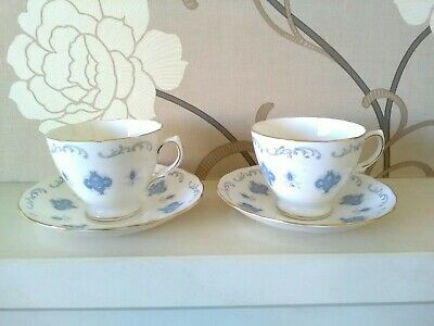 2 Royal Osborne Bone China Cups & Saucers. Pattern 8324. (Lot 2) • 1.99£