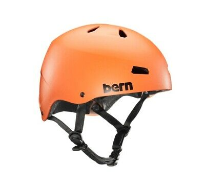 Bern Macon EPS Team Fit Bike Cycle Skate Snow Helmet Matte Orange XXL 60.5-62cm • 34.95£
