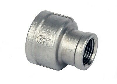 Stainless Steel (316) Reducing Socket Threaded BSP Pipe Fittings Size 1/8  To 2  • 4.80£