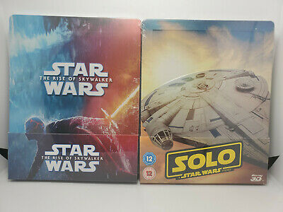 AU116.05 • Buy Star Wars Rise Of Skywalker Blu-ray + Solo: SW Story 3D REGION-FREE STEELBOOKS