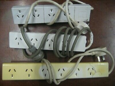 AU35 • Buy 3 X Power Point Outlet With Overload Switch 10A 2400W
