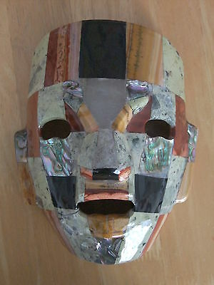 £42.95 • Buy Mayan / Mexican Art Mosaic Gemstone Burial Mask - Free Standing Hand Crafted