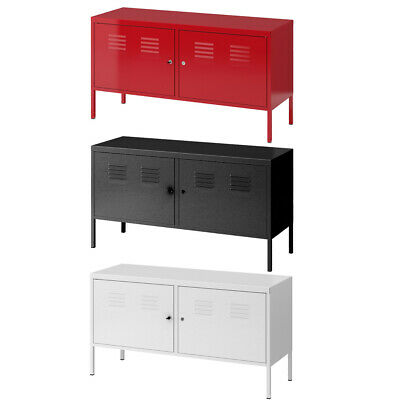 PS Cabinet Metal Locker Sideboard Office Filing Storage Cabinet Cupboard 2 Doors • 79.99£