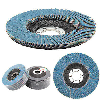 10Pcs 40/60/80/120 Flap Discs Strong Sturdy 115mm 4.5  Sanding Grinding Wheels • 6.49£