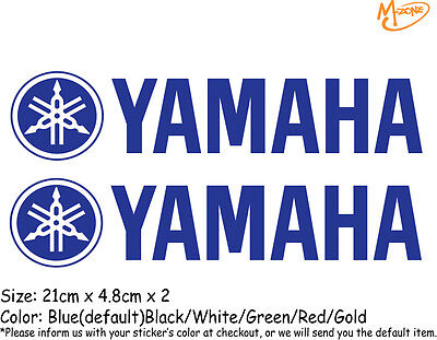 AU9.99 • Buy 2 Pcs YAMAHA Logo Reflective Stickers Motorcycle Decals Stickers Best Gift=
