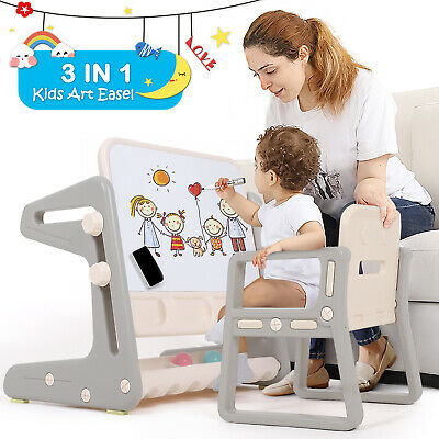 Kids Table And Chair Drawing Writing Desk Toys Child Seat Adjustable Height Gift • 47.99£