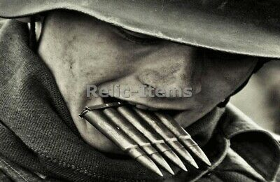 £3.83 • Buy WW2 Picture Photo German Soldier Reloading His Karabiner Rifle Bullets 0800