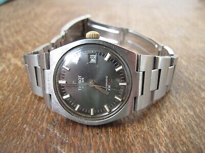 Vintage Tissot Pr 516 Grey Dial Date Automatic Mens Watch • 199£