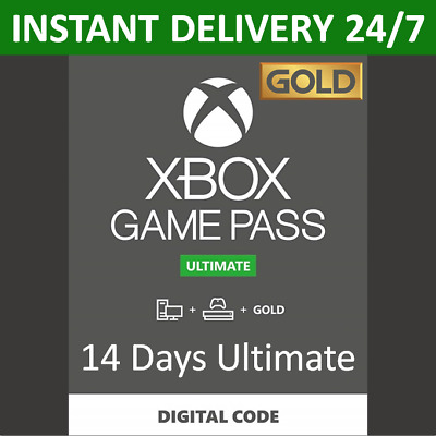 $2.52 • Buy 14 Days Xbox Game Pass Ultimate - Xbox Live Gold Membership + Pass - Xbox One