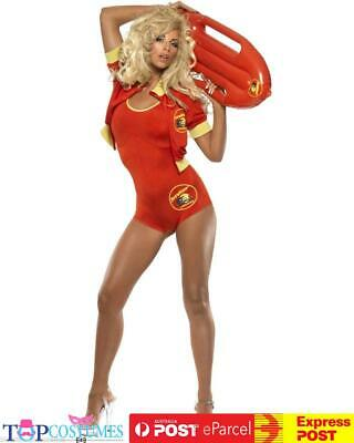 AU72.45 • Buy Baywatch Lifeguard Babe Costume + Float Beach Adult Fancy Dress Up 90's