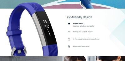 AU89.95 • Buy Fitbit Ace Kid's Activity Tracker Water Resistance OLED Tap Display BlueTooth