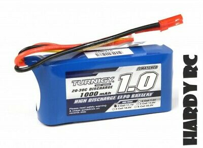 Turnigy 1000mAh 3S 11.1V 20C JST-2P Lipo Battery RC Drones/Helicopters • 10.69£
