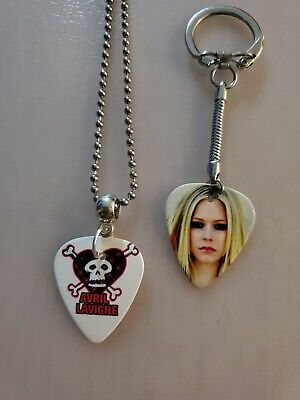 $ CDN9.99 • Buy Handmade Avril Guitar Pick Necklace And Keychain Set