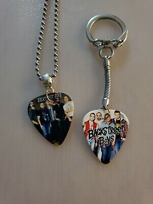 $ CDN9.99 • Buy Handmade Bsb Guitar Pick Necklace And Keychain Set