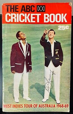 AU47.20 • Buy The ABC Cricket Book 1968-69, Signed By Bill Lawry, West Indies Tour, Australia