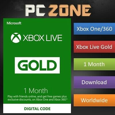 $ CDN13.29 • Buy 1 Month Xbox Live Gold Membership For Microsoft Xbox One / Xbox 360 Instant