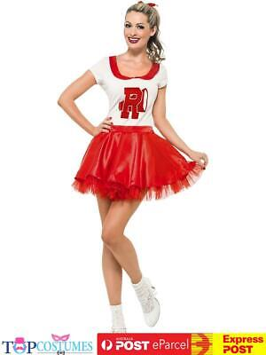 AU51.45 • Buy Sandy Cheerleader Costume School 50s Rydell High Fancy Dress Up Outfit