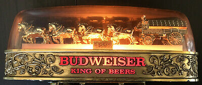 $ CDN145.61 • Buy Vintage Anheuser-Busch Budweiser Light Up Counter Top Sign Golden Clydesdales