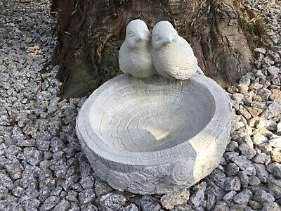 Decorative Stone Bird Bath. Birds, Outdoor, Garden. (not Resin Or Plastic) • 28.99£