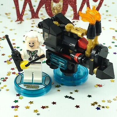 AU23 • Buy LEGO Dimensions Doc Brown Back To The Future FUN Pack 71230 Minifigure Pieces