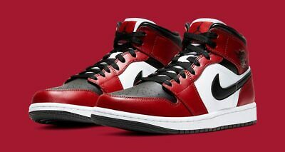 AU257 • Buy Nike Jordan Air 1 Mid Chicago Toe Red Black And White Size 10
