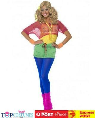 AU54.94 • Buy Lets Get Physical Olivia Newton John Costume 80s 1980s Sports Workout