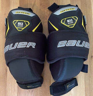 $19 • Buy Bauer Supreme Ice Hockey Goalie Knee Guards Pads Senior Size