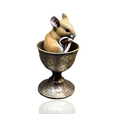 Mice Cold Cast Bronze Mouse In Egg Cup - Hand Painted - Michael Simpson. • 34.99£
