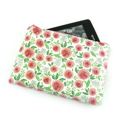 AU26 • Buy English Rose Flower Kindle Padded E-Reader Case, Paperwhite Sleeve, Amazon Oasis
