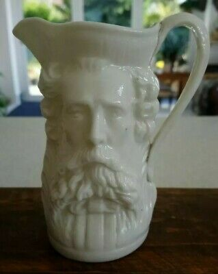 A Fine Small Victorian Two / Double / Twin Faced Character Jug - Man With Beard • 18£