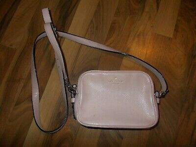 $ CDN31.42 • Buy KATE SPADE Small Pink Pale Messenger Crossbody Purse Pebbled Soft Leather