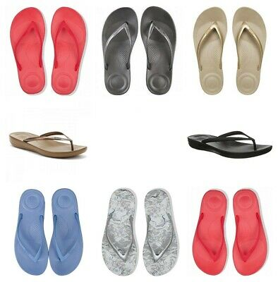 Fitflop Womens Flip Flops IQushion Thong Flip Flops Sandals Ladies Beach Shoes  • 19.99£