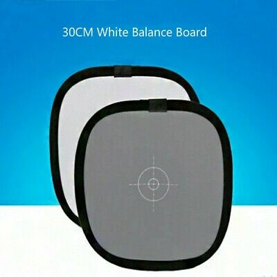 18% Photography Grey Card 30CM Three-in-one White Balance Board Black Focus New • 7.99£