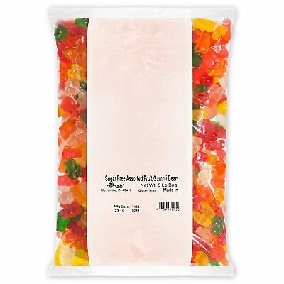 $41.99 • Buy Albanese Confecetionery Sugar Free Assorted Fruit Gummi Bears, 5 Pound Bag