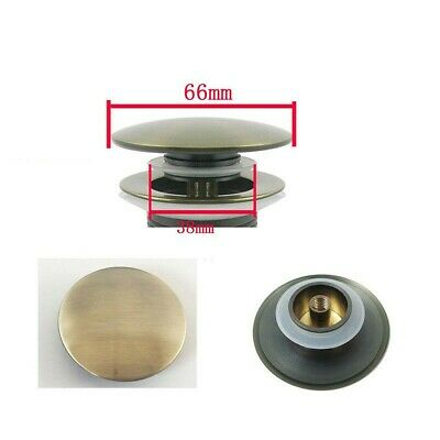 £6.38 • Buy Fitting Brass Basin Sink Waste Pop Up Plug Cap Click Clack Push Button 66mm Gold