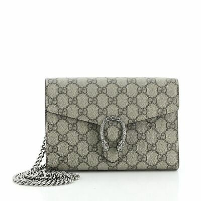 $1345.50 • Buy Gucci Dionysus Chain Wallet GG Coated Canvas Small