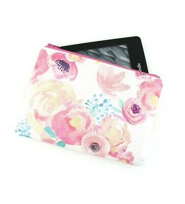 AU26 • Buy Watercolour Floral Kindle Padded E-Reader Case, Paperwhite Sleeve, Amazon Oasis