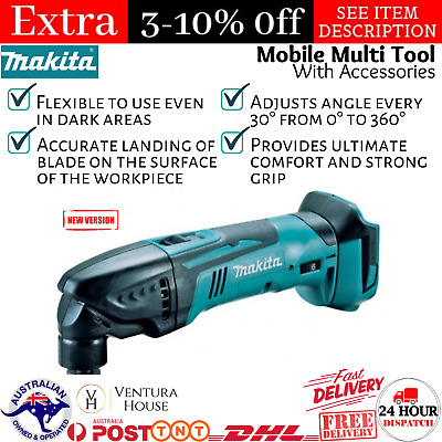 AU288.90 • Buy Makita DTM50ZX5 18V LXT Li-Ion Cordless Multi-tool With Case & Accessories-Tool