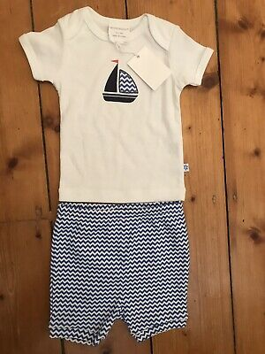 AU20 • Buy NEW Marquise Baby Boy Shorts T Shirt 00 And 0 Ocean Shorts And Boat Top BNWT