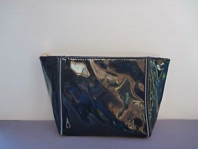 AU17.99 • Buy YSL Beauty Black Faux Patent Leather Makeup Cosmetics Bag, Brand NEW!