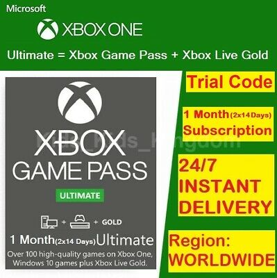 $ CDN6.32 • Buy Xbox Live 1 Month Gold & Game Pass Ultimate Code (2x 14 Day) - INSTANT DELIVERY