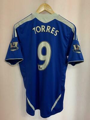 Chelsea London 2011/2012 Home Football Shirt Jersey Size M Fernando Torres #9 • 59.99£