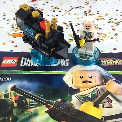 AU24 • Buy LEGO Dimensions Doc Brown Back To The Future FUN Pack 71230 Minifigure Pieces