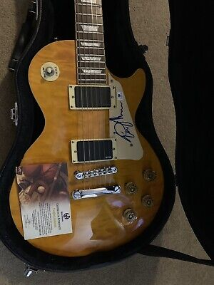 $469.99 • Buy Eric Johnson Autographed/Signed Les Paul Guitar With Hard Case And COA