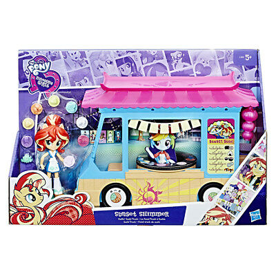 My Little Pony Rollin' Sushi Truck Car Playset Set & Sunset Shimmer Doll Figure • 19.80£