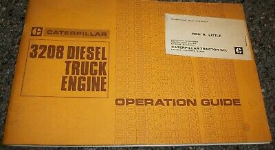 $9.99 • Buy Scarce Vintage 1979 Caterpillar 3208 Diesel Truck Engine Operation Guide Book
