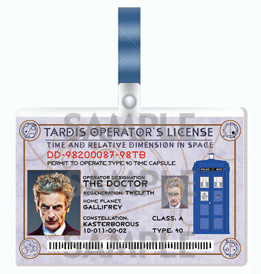 DOCTOR WHO - 12th Doctor Cosplay I.D. Badge • 3.59£