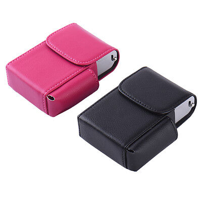 PU Leather Cigarette Packet Case Litchi Style With Lighter Holder • 5.37£