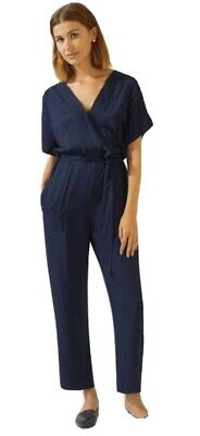 AU60 • Buy Jigsaw Spot Jacquard Wrap Jumpsuit Size 10 New With Tags